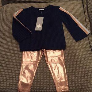 Splendid 2 pc sweater and leggings